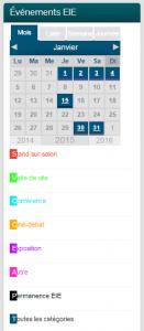 calendrier eie